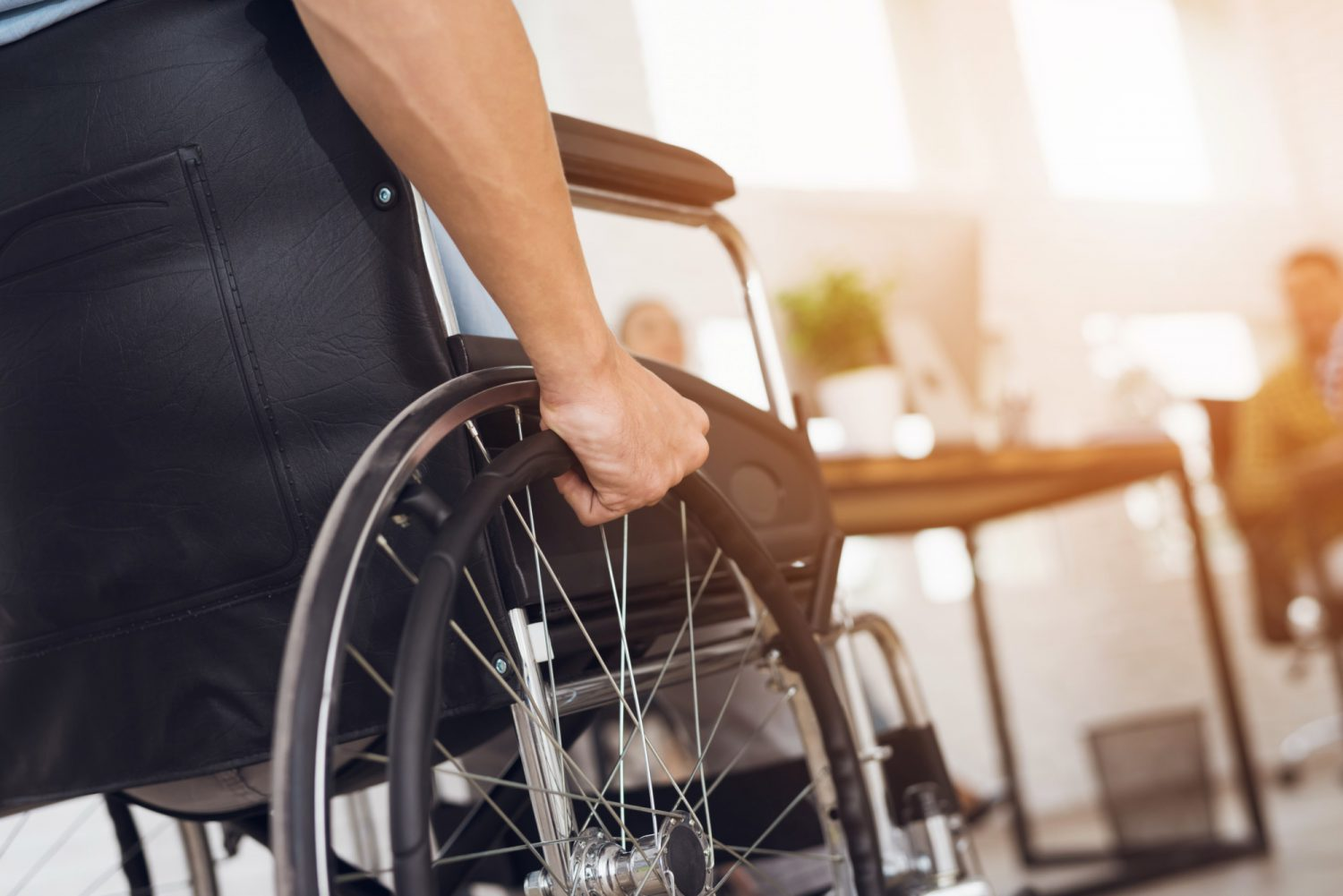 person with a disability navigating their everyday life