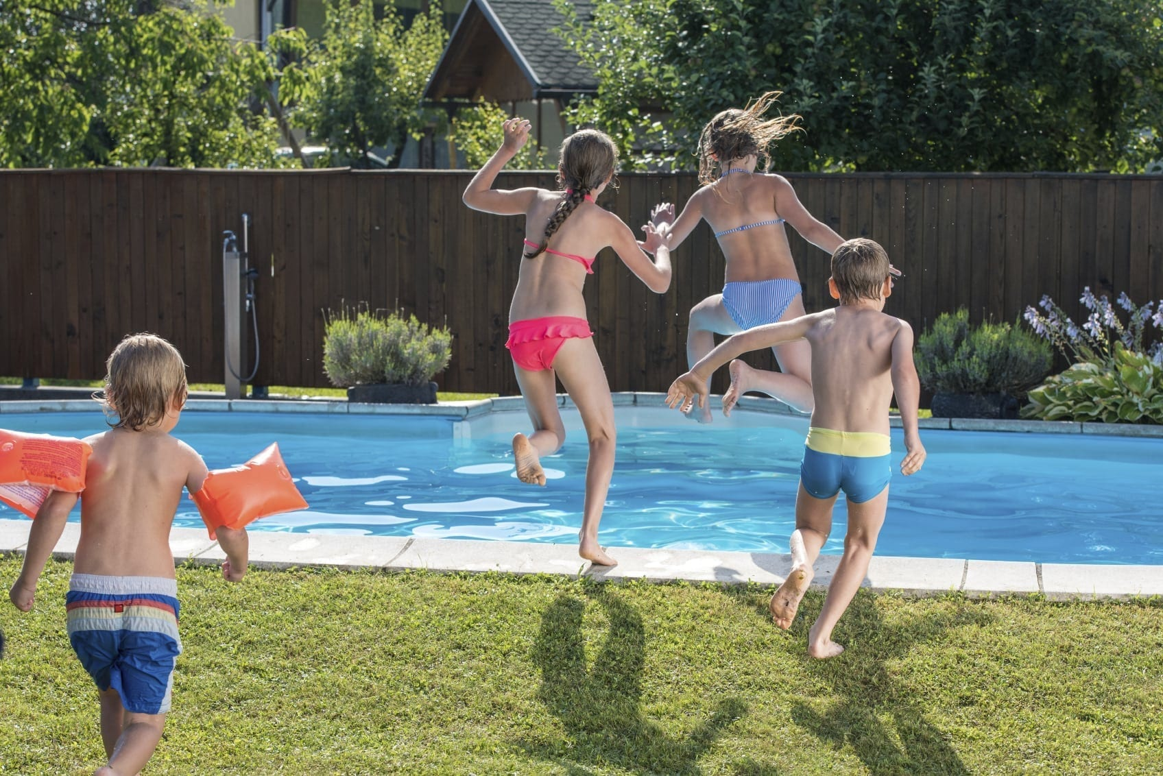 Pool Accident Stock Photo