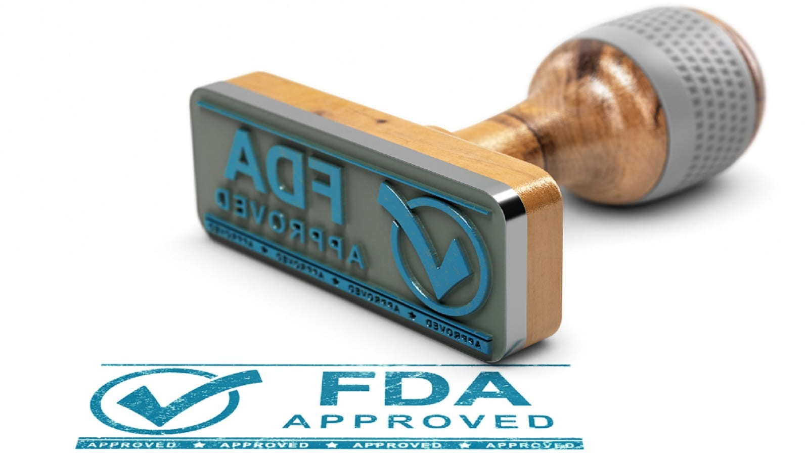 FDA Stamp of Approval Stock Photo