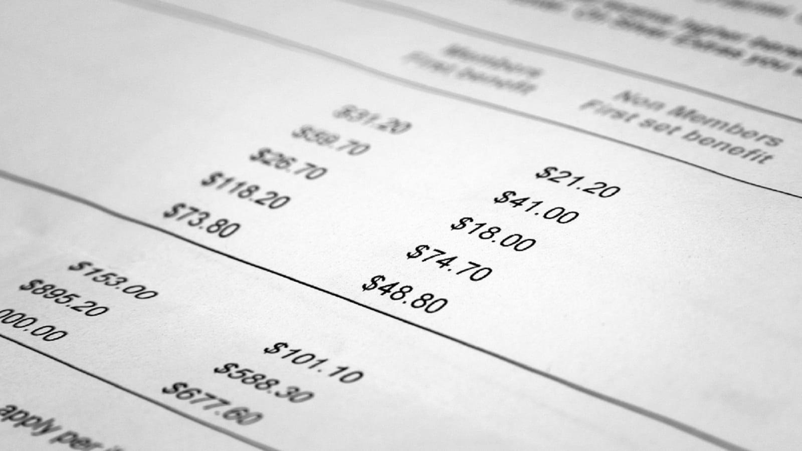 Medical Insurance Billing Statement
