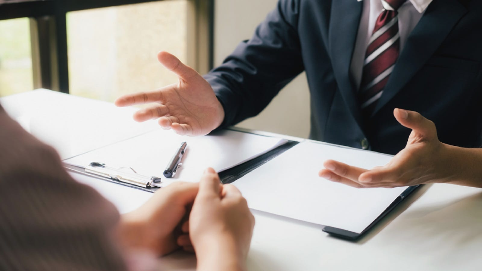 Lawyer Meeting With A Client Stock Photo