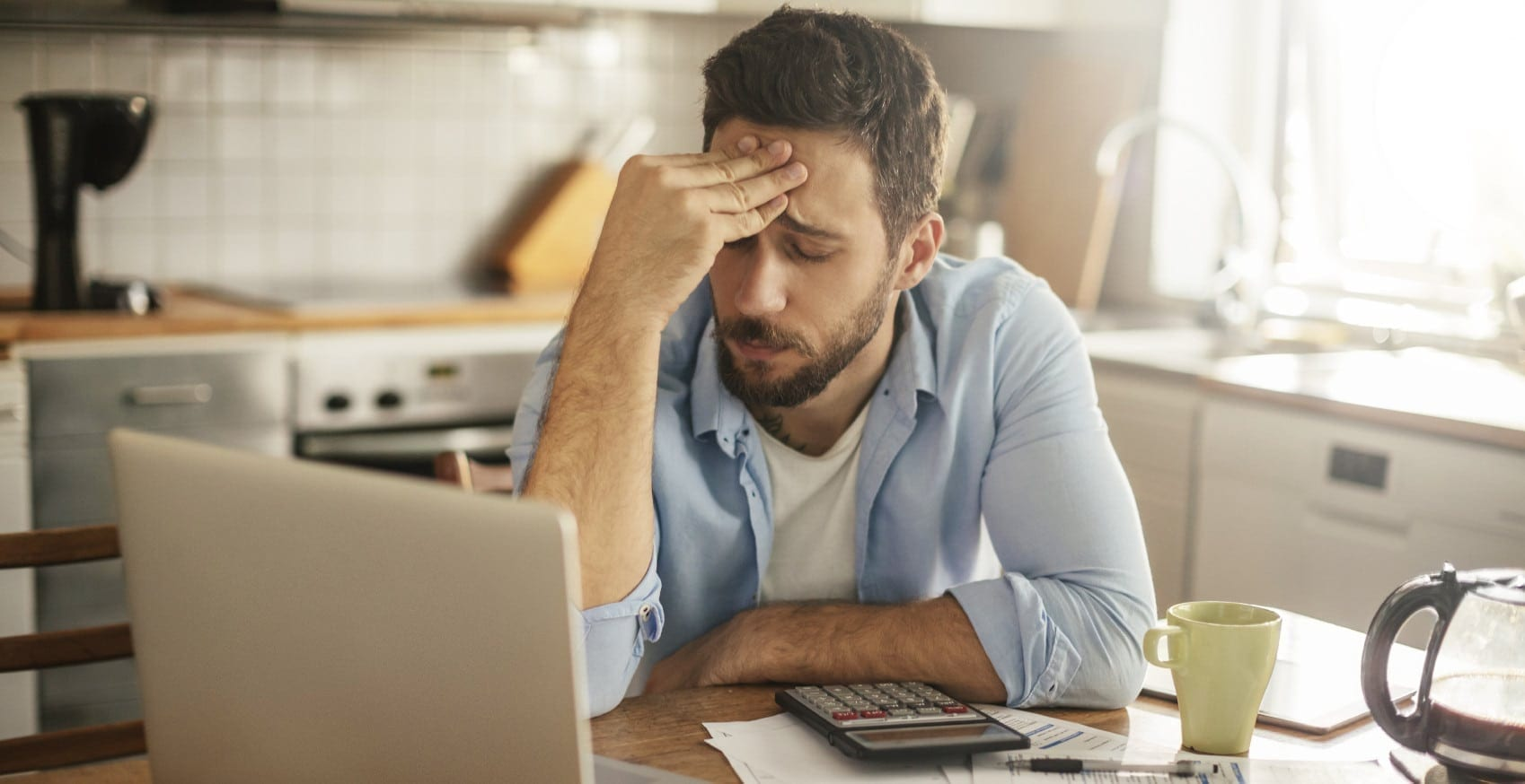 Stressed Young Man Stock Photo