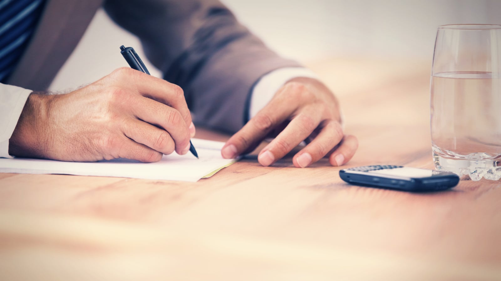 Attorney Taking Notes Stock Photo