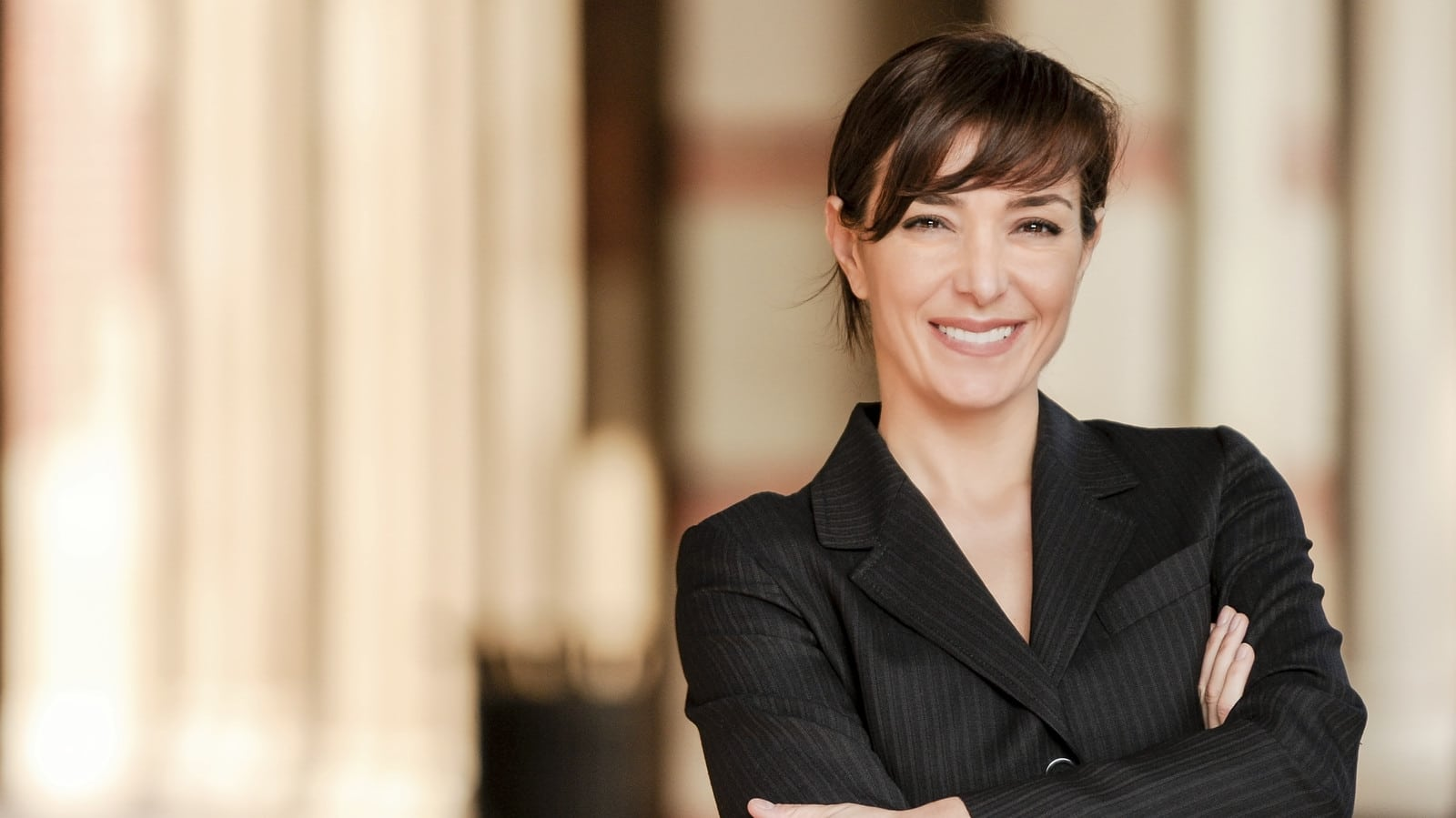 Smiling Female Attorney Stock Photo