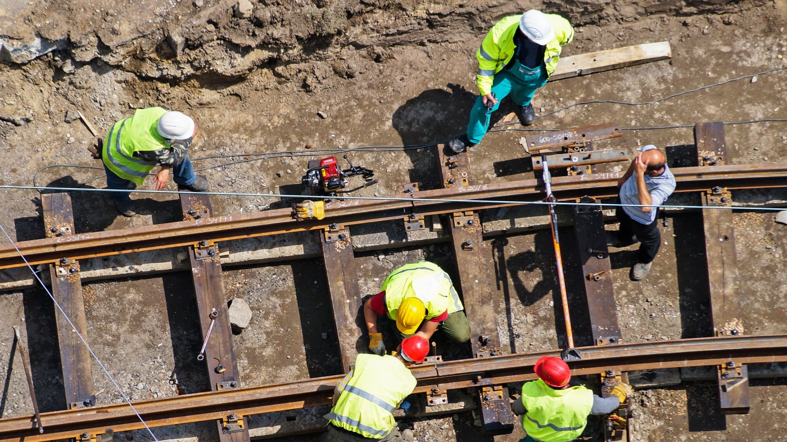 Railroad Construction Stock Photo