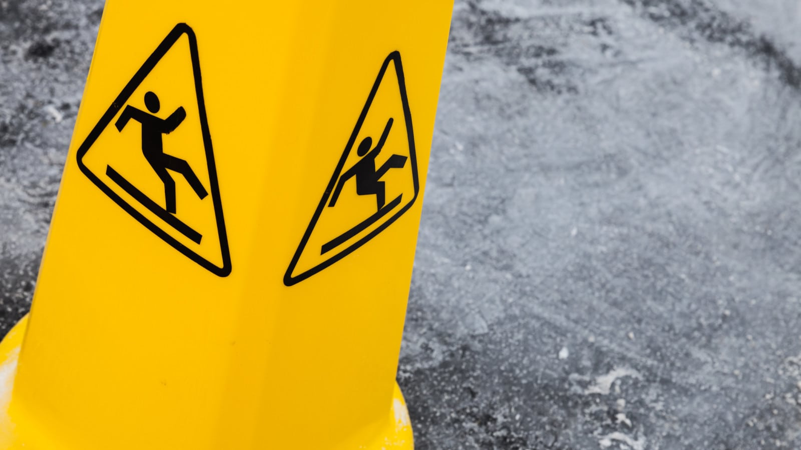 Caution Sign Wet Floor Stock Photo