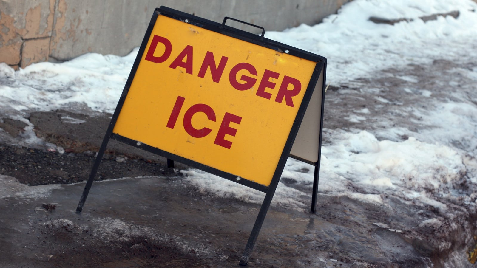 Danger Ice Stock Photo