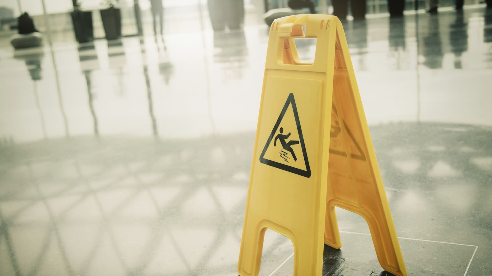 Caution Slippery Stock Photo