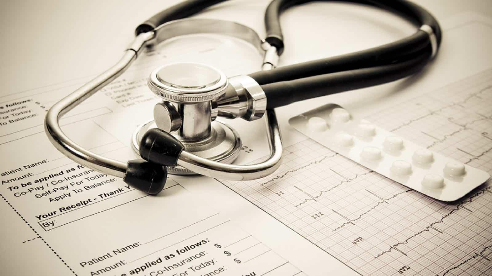 Stethoscope Medical Form Stock Photo