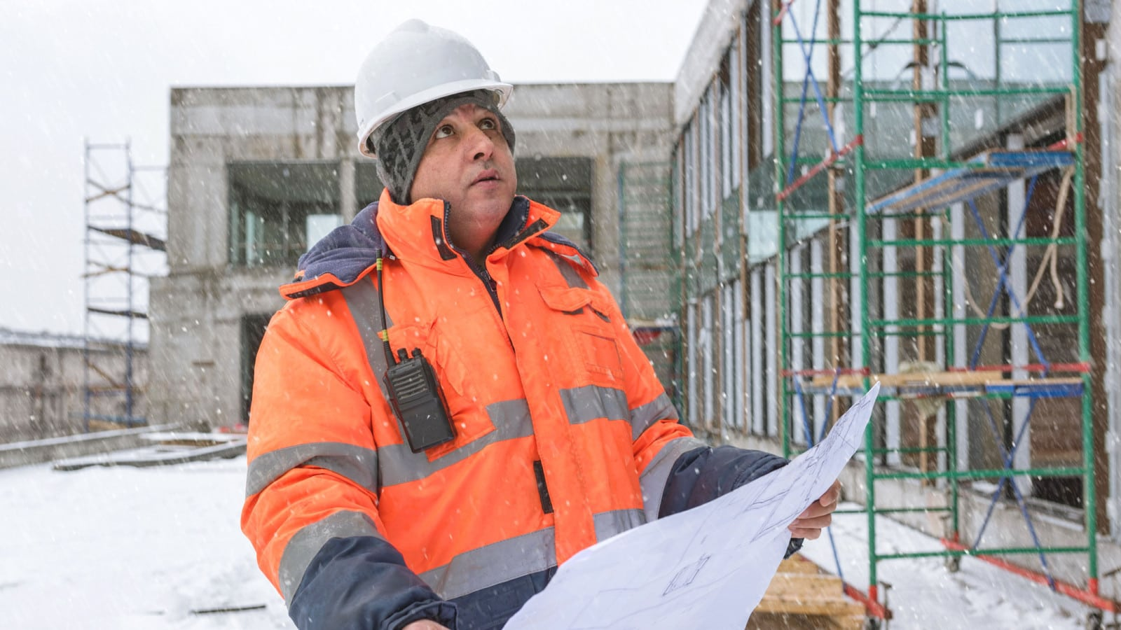 Foreman Construction Site Stock Photo