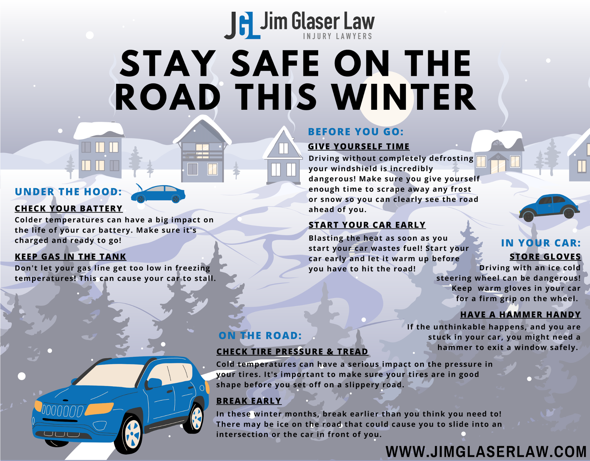Boston winter driving tips infographic