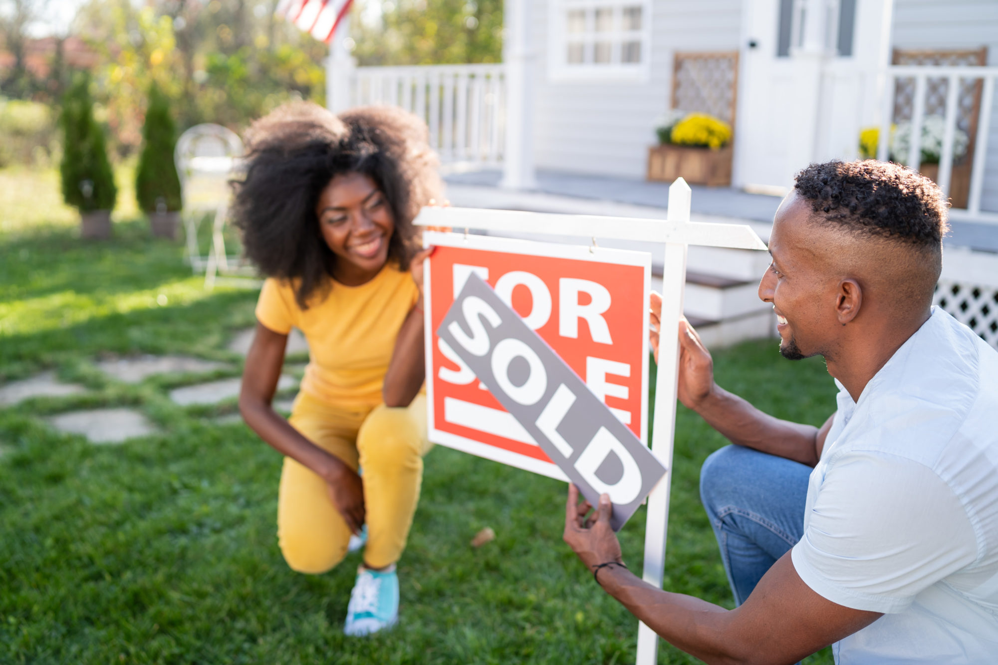 young couple buying a home in Massachusetts