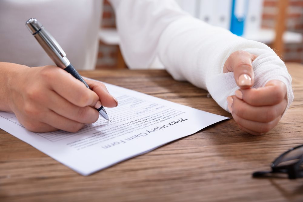 an injured worker filing a workers' comp claim in Boston