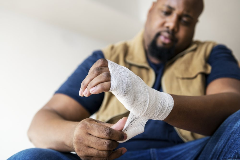 a man recovering from an on-the-job injury in Boston